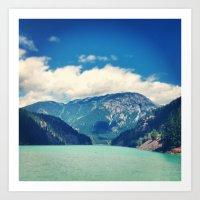 diablo Art Prints featuring Diablo Lake by SarahS