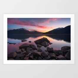 Patagonian sunset Art Print