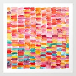 Watercolor Strokes Art Print