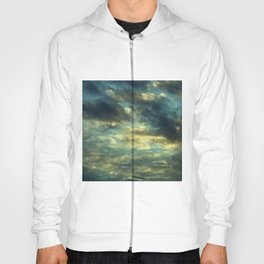 Cloudy Gray Blue Sky Vintage Hoody
