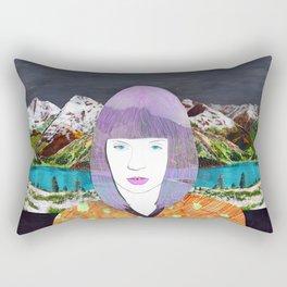 The girl by the lake by Veronique de Jong Rectangular Pillow