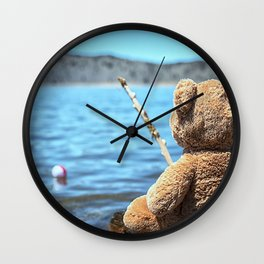 Come on Walter said the fishing teddy bear Wall Clock