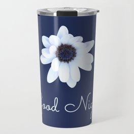 Good Night, Sleepy African Daisy Flower Travel Mug