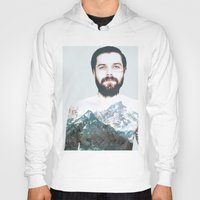 neil gaiman Hoodies featuring Simon Neil Mountains by madbiffymorghulis