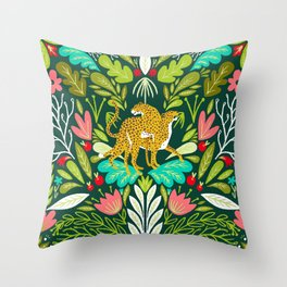 A Walk In Nature Walks The Soul Back Home #illustration Throw Pillow
