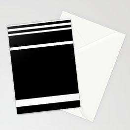 Black & White Stripes Stationery Cards