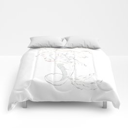 Mermaid Ariel skeleton Comforters