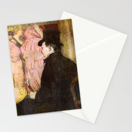 "Henri de Toulouse-Lautrec ""Maxime Dethomas At the Ball of the Opera"" Stationery Cards"