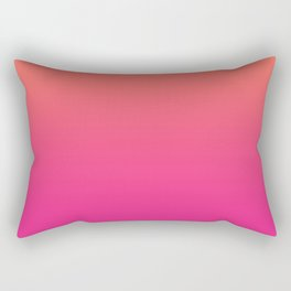 Coral Bright Pink Ombre Gradient Pattern Orange Peachy Soft Trendy Texture Rectangular Pillow