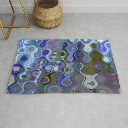 Colour Through Pattern Blue Rug