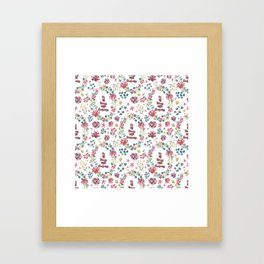 Do All Things With Kindness - A floral print Framed Art Print