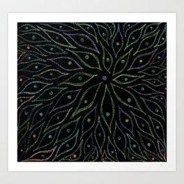 Glittering Leaves Art Print