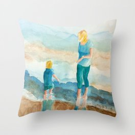 Joy On The Beach Throw Pillow