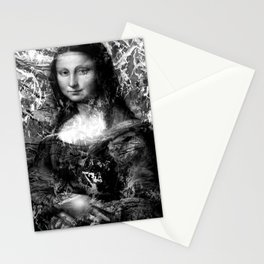 MONA LISA (BLACK & WHITE VERSION) Stationery Cards