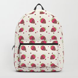 AFE Chocolate Strawberries Pattern Backpack