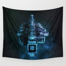 Leviathan BLUE / Keep on trucking Wall Tapestry