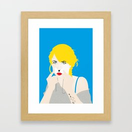 The Girl with the Bow - triptych Framed Art Print