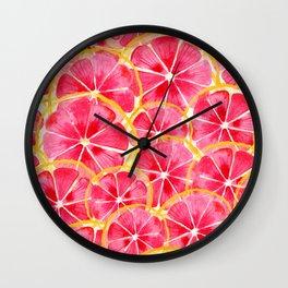 Tropical Citrus Wall Clock