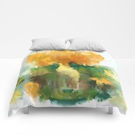 Golden bouquet Comforters