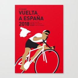 MY VUELTA A ESPANA MINIMAL POSTER 2018 Canvas Print