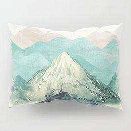 Mountains Landscape Watercolor Pillow Sham