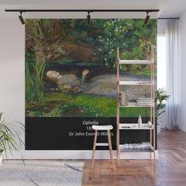 "John Everett Millais, "" Ophelia "" Wall Mural"