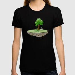Low Poly Bunny Island T-shirt