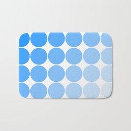 Blue Circle Color Chart Bath Mat