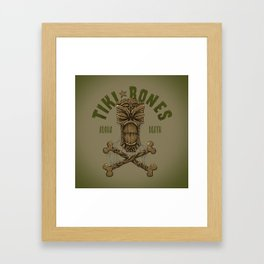 Tiki Bones Framed Art Print