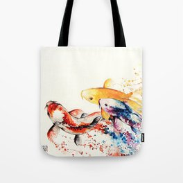 Underwater rainbow : the goldfishes Tote Bag
