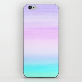 Touching Unicorn Girls Watercolor Abstract #1 #painting #decor #art #society6 iPhone Skin
