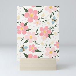 Spring Pink Cherry Blossoms Floral Mini Art Print