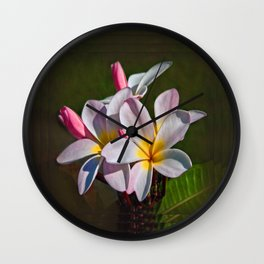 Hula Flower Wall Clock