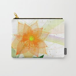 Fancy colorful abstract flower Carry-All Pouch