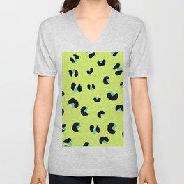 Keep me Wild Animal Print - Lime Unisex V-Neck