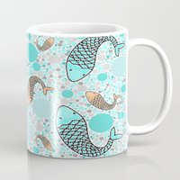 koi Mugs featuring Koi by Beth Thompson