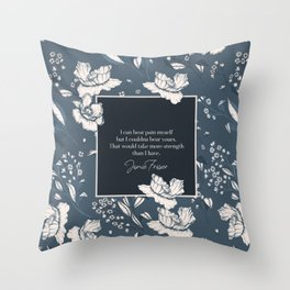 I can bear pain myself but I couldna bear yours... Jamie Fraser Throw Pillow