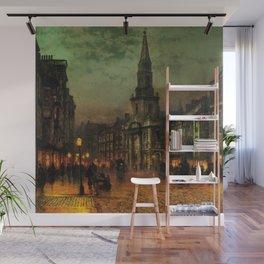 Classical Masterpiece 'Blackman Street, London' by John Atkinson Grimshaw Wall Mural