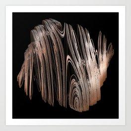 3D Fractal Coils Art Print