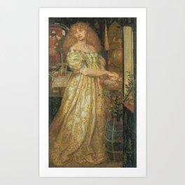 Dante Gabriel Rossetti 1828–1882   Lucrezia Borgia Art Print