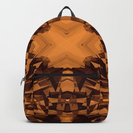Orange kaleidoscope star pattern Backpack