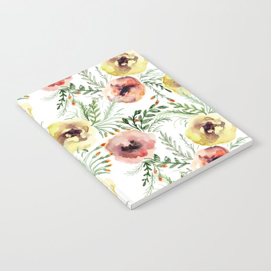 Floral pattern. Watercolor Notebook