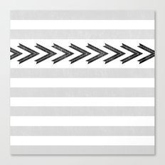 ARROW STRIPE {GRAY} Canvas Print