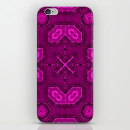 Victorian Art Deco Medieval Pattern bright pink SB26/6 iPhone Skin