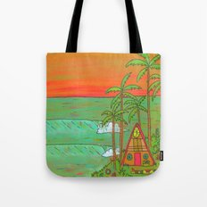 A Frame Dream Home Surf Paradise Tote Bag