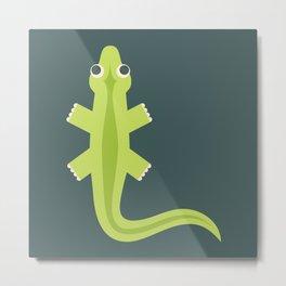 Letter L // Animal Alphabet // Lizard Monogram Metal Print