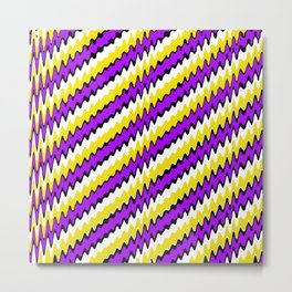 Purple gold white and black slur 2 Metal Print