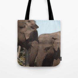 elephant mum & bub Tote Bag