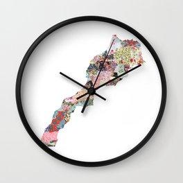 Marocco map Wall Clock