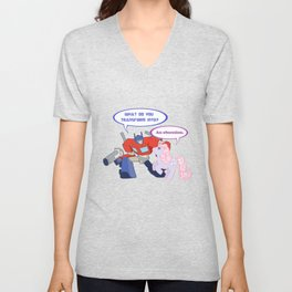 transformers meets my little pony Unisex V-Neck